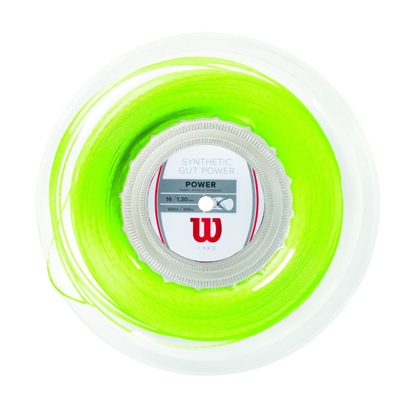 Wilson Synthetic Gut Power 200m Reel Lime