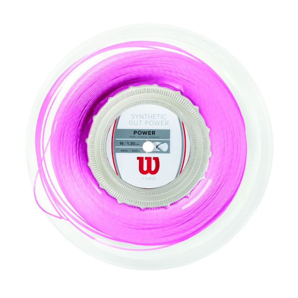 Wilson Synthetic Gut Power 200m Reel Pink